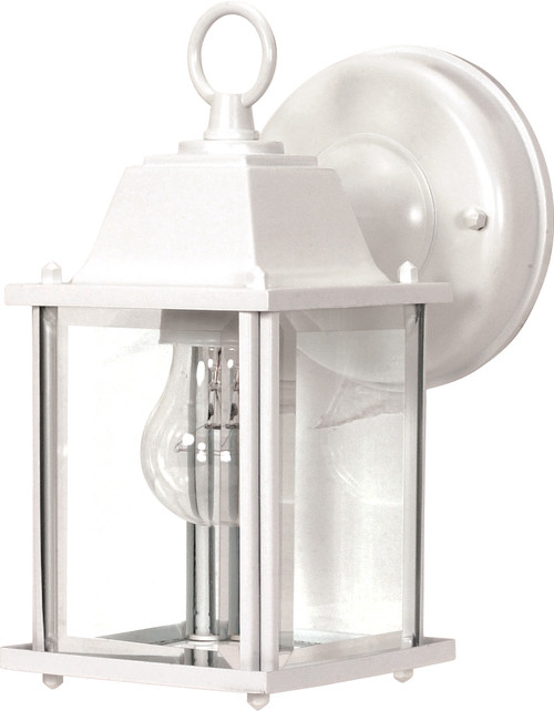 """NUVO Lighting 60/636 1 Light 9"""" Wall Lantern Cube Lantern with Clear Beveled Glass"""