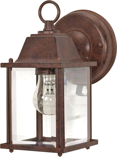 """NUVO Lighting 60/637 1 Light 9"""" Wall Lantern Cube Lantern with Clear Beveled Glass"""