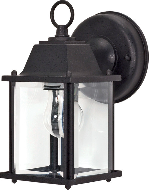 """NUVO Lighting 60/638 1 Light 9"""" Wall Lantern Cube Lantern with Clear Beveled Glass"""