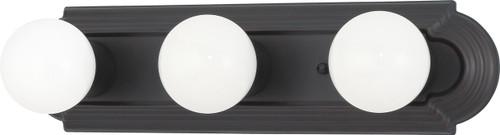 "NUVO Lighting 60/1284 3 Light 18"" Vanity Racetrack Style"
