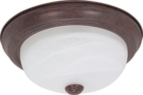 "NUVO Lighting 60/205 2 Light 11"" Flushmount Alabaster Glass"