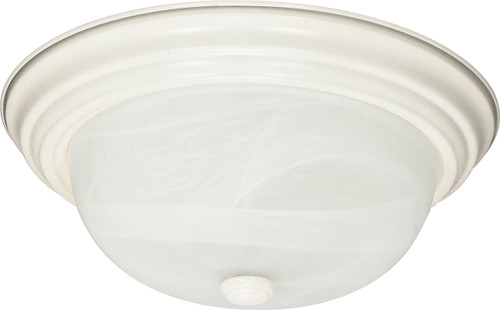 "NUVO Lighting 60/221 2 Light 11"" Flushmount Alabaster Glass"
