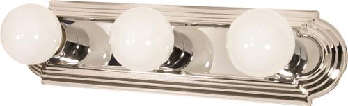 "NUVO Lighting 60/296 3 Light 18"" Vanity Racetrack Style"