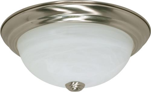 "NUVO Lighting 60/197 2 Light 11"" Flushmount Alabaster Glass"