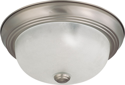 """NUVO Lighting 60/3261 2 Light 11"""" Flushmount with Frosted White Glass"""