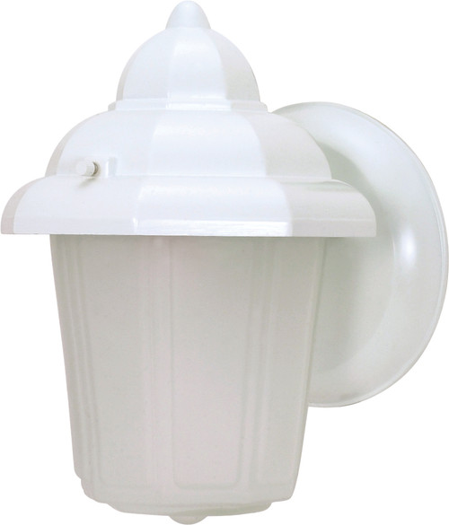 """NUVO Lighting 60/639 1 Light 9"""" Wall Lantern Hood Lantern with Satin Frosted Glass"""