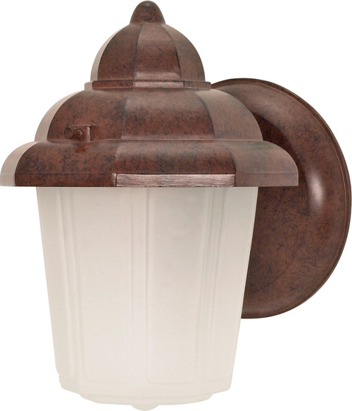 """NUVO Lighting 60/640 1 Light 9"""" Wall Lantern Hood Lantern with Satin Frosted Glass"""