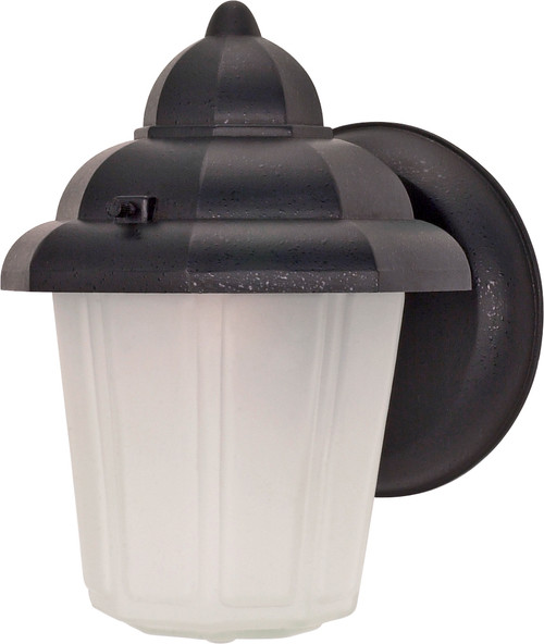 """NUVO Lighting 60/641 1 Light 9"""" Wall Lantern Hood Lantern with Satin Frosted Glass"""