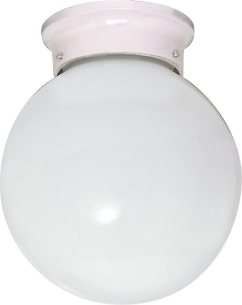 "NUVO Lighting 60/430 1 Light CFL 8"" Flushmount White Ball (1) 13W GU24 (Bulbs Included)"
