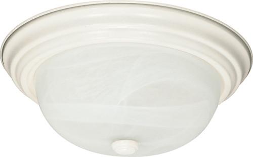 "NUVO Lighting 60/222 2 Light 13"" Flushmount Alabaster Glass"