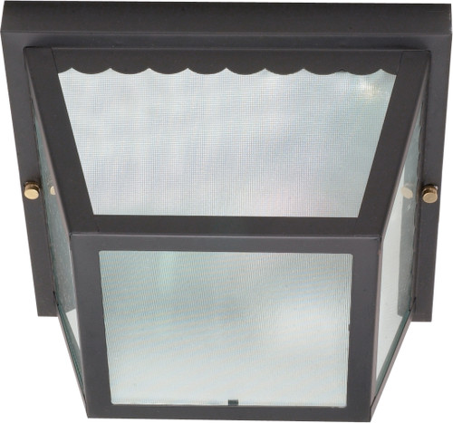 """NUVO Lighting 60/473 2 Light 10"""" Carport Flushmount with Textured Frosted Glass"""