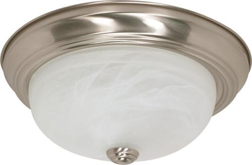 "NUVO Lighting 60/198 2 Light 13"" Flushmount Alabaster Glass"