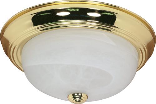"NUVO Lighting 60/214 2 Light 13"" Flushmount Alabaster Glass"