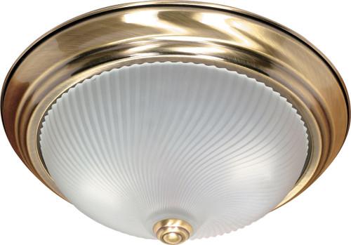 "NUVO Lighting 60/238 2 Light 13"" Flushmount Frosted Swirl Glass"