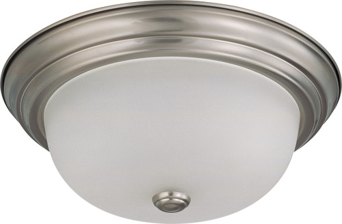 """NUVO Lighting 60/3262 2 Light 13"""" Flushmount with Frosted White Glass"""