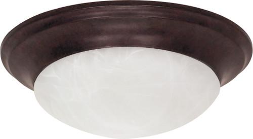 "NUVO Lighting 60/280 1 Light 12"" Flushmount Twist & Lock with Alabaster Glass"