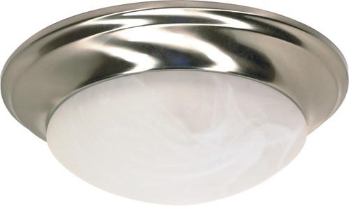 "NUVO Lighting 60/283 1 Light 12"" Flushmount Twist & Lock with Alabaster Glass"