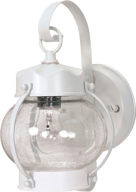 """NUVO Lighting 60/630 1 Light 11"""" Wall Lantern Onion Lantern with Clear Seeded Glass"""