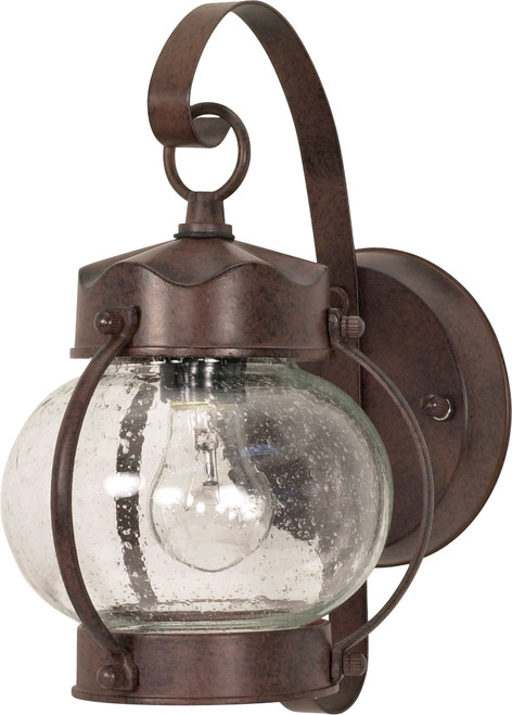 """NUVO Lighting 60/631 1 Light 11"""" Wall Lantern Onion Lantern with Clear Seeded Glass"""