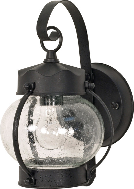 """NUVO Lighting 60/632 1 Light 11"""" Wall Lantern Onion Lantern with Clear Seeded Glass"""