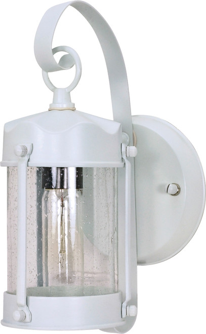"""NUVO Lighting 60/633 1 Light 11"""" Wall Lantern Piper Lantern with Clear Seeded Glass"""