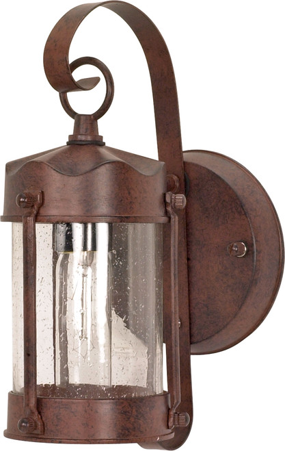 """NUVO Lighting 60/634 1 Light 11"""" Wall Lantern Piper Lantern with Clear Seeded Glass"""