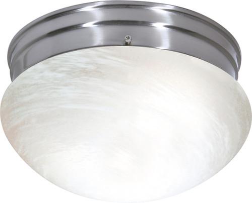 NUVO Lighting 60/2635 2 Light ES Medium Mushroom with Alabaster Glass (2) 13W GU24 (Bulbs Included)