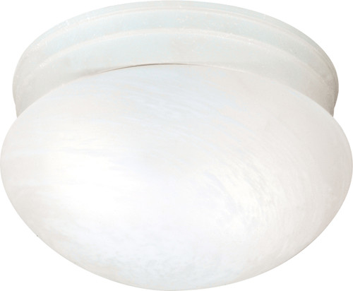 NUVO Lighting 60/2637 2 Light ES Medium Mushroom with Alabaster Glass (2) 13W GU24 (Bulbs Included)