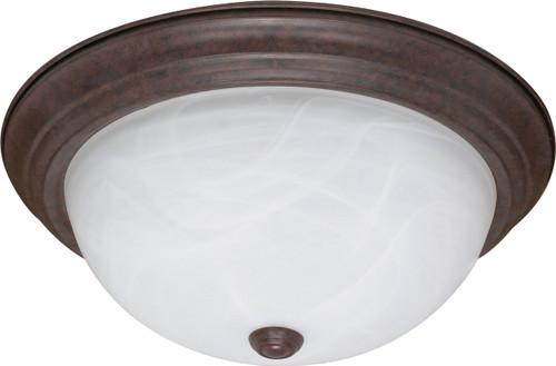 "NUVO Lighting 60/207 3 Light 15"" Flushmount Alabaster Glass"