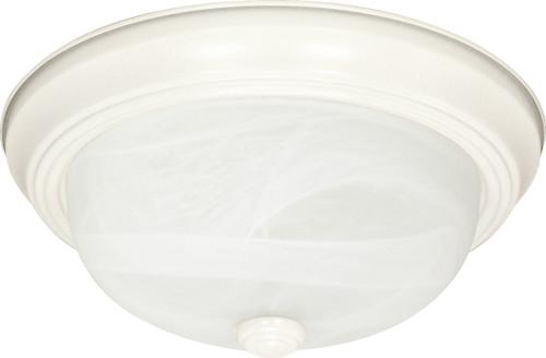 "NUVO Lighting 60/223 3 Light 15"" Flushmount Alabaster Glass"