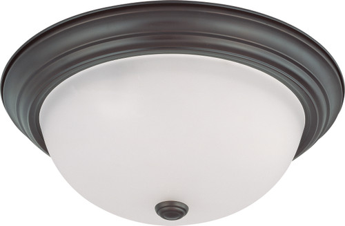 """NUVO Lighting 60/3147 3 Light 15"""" Flushmount with Frosted White Glass"""