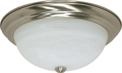 "NUVO Lighting 60/199 3 Light 15"" Flushmount Alabaster Glass"