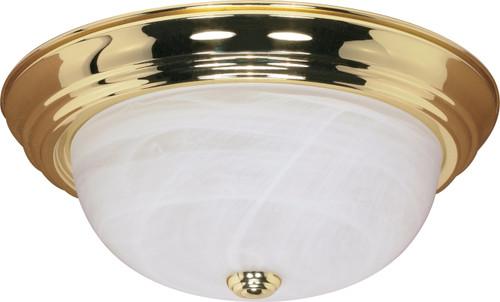 "NUVO Lighting 60/215 3 Light 15"" Flushmount Alabaster Glass"