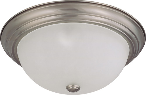 """NUVO Lighting 60/3263 3 Light 15"""" Flushmount with Frosted White Glass"""