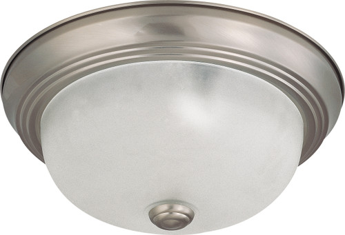 """NUVO Lighting 60/3311 2 Light 11"""" Flushmount with Frosted White Glass (2) 13W GU24 (Bulbs Included)"""