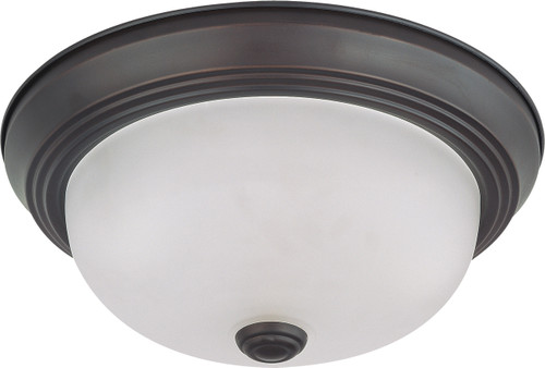 """NUVO Lighting 60/3335 2 Light 11"""" Flushmount with Frosted White Glass (2) 13W GU24 (Bulbs Included)"""