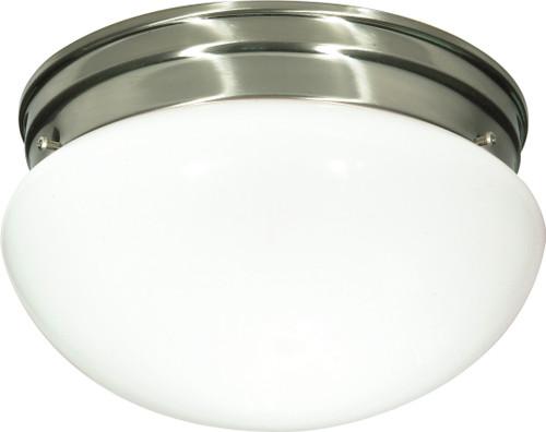 "NUVO Lighting 60/405 2 Light CFL 10"" Medium White Mushroom (2) 13W GU24 (Bulbs Included)"