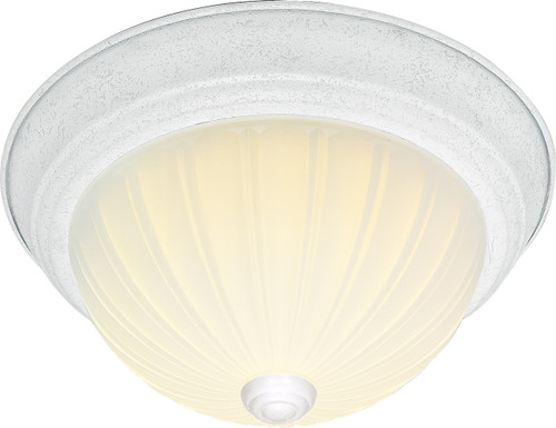 """NUVO Lighting 60/443 2 Light CFL 11"""" Flushmount Frosted Melon Glass (2) 13W GU24 (Bulbs Included)"""