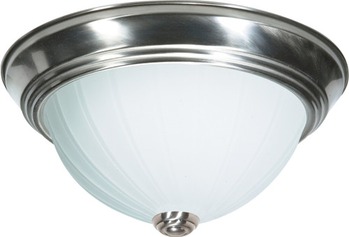"""NUVO Lighting 60/446 2 Light CFL 11"""" Flushmount Frosted Melon Glass (2) 13W GU24 (Bulbs Included)"""