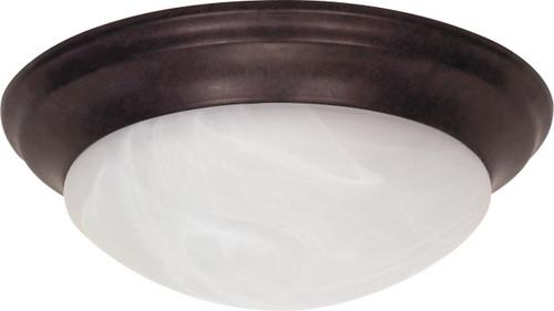 "NUVO Lighting 60/281 2 Light 14"" Flushmount Twist & Lock with Alabaster Glass"