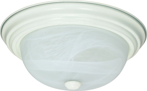 """NUVO Lighting 60/2629 2 Light ES 13"""" Flushmount Fixtue with Alabaster Glass (2) 13W GU24 (Bulbs Included)"""