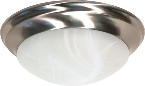 "NUVO Lighting 60/284 2 Light 14"" Flushmount Twist & Lock with Alabaster Glass"