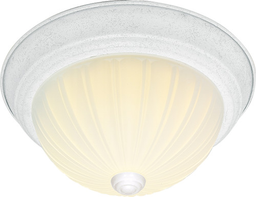 """NUVO Lighting 60/444 2 Light CFL 13"""" Flushmount Frosted Melon Glass (2) 13W GU24 (Bulbs Included)"""
