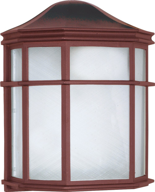 """NUVO Lighting 60/582 1 Light CFL 10"""" Cage Lantern Wall Fixture (1) 13W GU24 (Bulb Included)"""