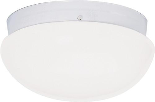 "NUVO Lighting 60/404 2 Light CFL 12"" Large White Mushroom (2) 18W GU24 (Bulbs Included)"