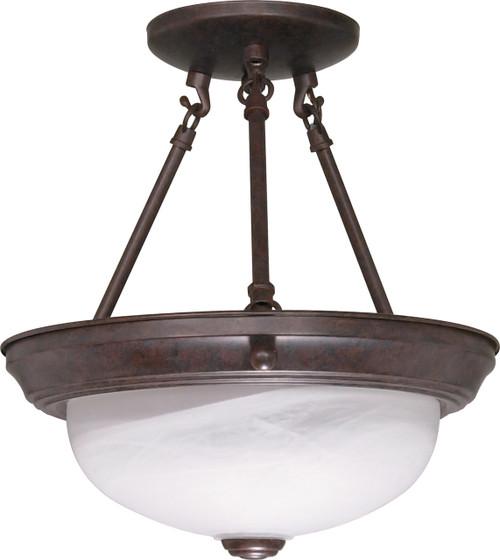 "NUVO Lighting 60/208 2 Light 11"" Semi Flushmount Alabaster Glass"