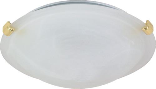 "NUVO Lighting 60/275 2 Light 16"" Flushmount Tri-Clip with Alabaster Glass"