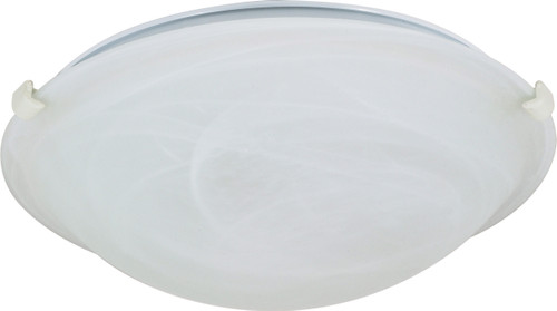 "NUVO Lighting 60/277 2 Light 16"" Flushmount Tri-Clip with Alabaster Glass"