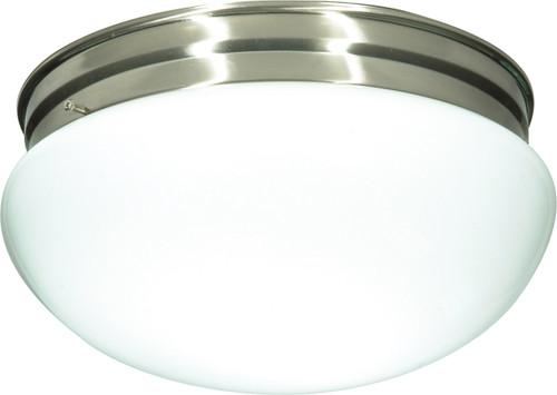 "NUVO Lighting 60/406 2 Light CFL 12"" Large White Mushroom (2) 18W GU24 (Bulbs Included)"