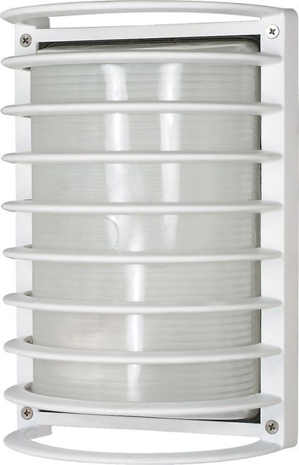 "NUVO Lighting 60/532 1 Light 10"" Rectangle Cage Die Cast Bulk Head"
